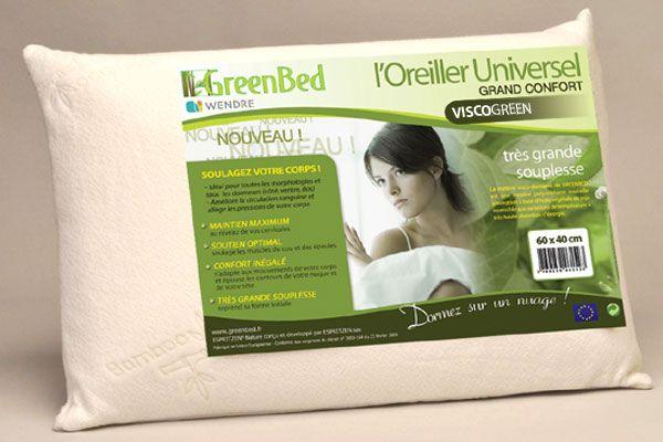 greenbed l oreiller universel grand confort taille