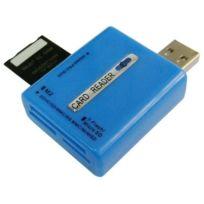 Wewoo - Lecteur de cartes haute vitesse bleu 56 en 1 support Carte mémoire: Sd / Mmc Ms Tf M2