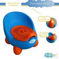 Bebe Lol - Pot bébé toilette bébé aux couleurs vives ! Coloris au Choix bleu, Bébélol