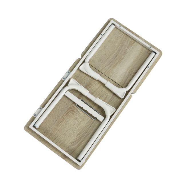 Socle piètement avec 2 plateaux en bois Tablette supérieure extensible !