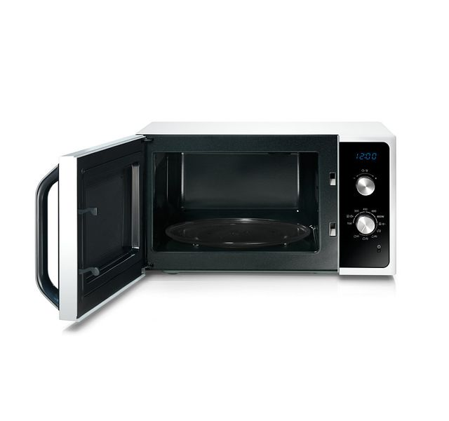 Samsung - Micro-ondes gril - 23 L - 800 W - Blanc Blanc , porte noire