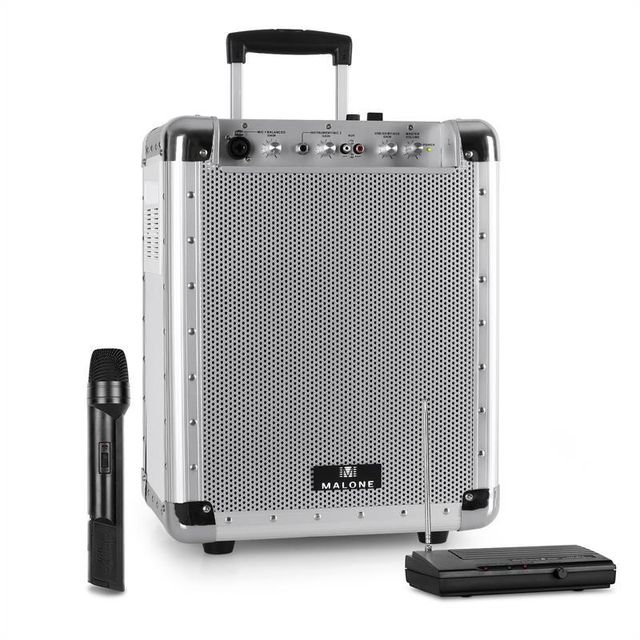 MALONE Set PAS1 Streetrocker Sono portable USB SD AUX Bluetooth 100W RMS + micro