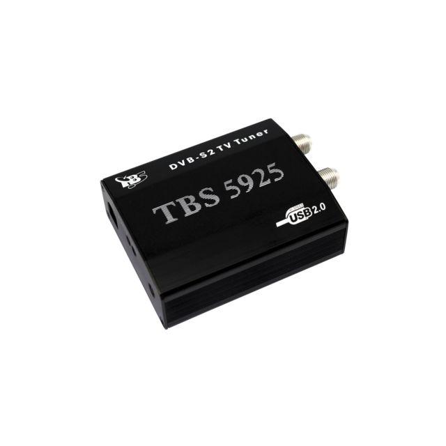 TBS TBS5925 Tuner Tv satellite externe USB DVB-S / DVB-S2 Le boîtier TBS5925 est un boîtier tuner Tv satellite numérique pro