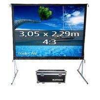 Kimex - Ecran de projection valise 3,05 x 2,29m, format 4:3, Toile Avant