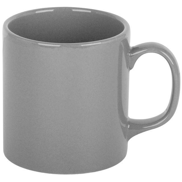 Promobo Mug Tasse A Café Platine Design City Gris Argenté 10cm