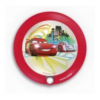 Philips - Veilleuse Cars détecteur Led D9,5 cm - Rouge