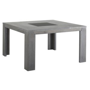 Last Meubles - Table carrée Sydney Gris - 140cm x 77.5cm x 140cm