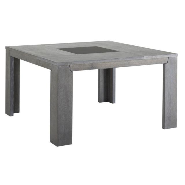 Last Meubles - Table carrée Sydney Gris - 140cm x 140cm x 77.5cm