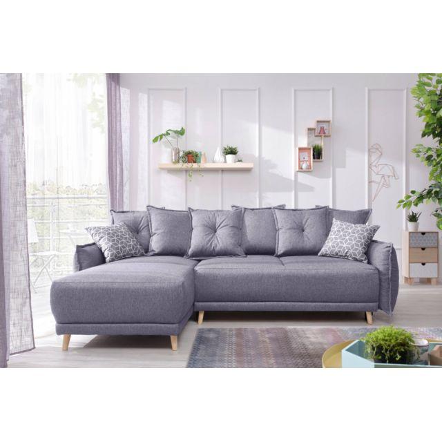 bobochic lena canap d 39 angle scandinave r versible. Black Bedroom Furniture Sets. Home Design Ideas
