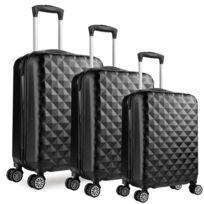 Univers Decor - Lot de 3 valises Valigo Paris Noir 50/60/70 Abs