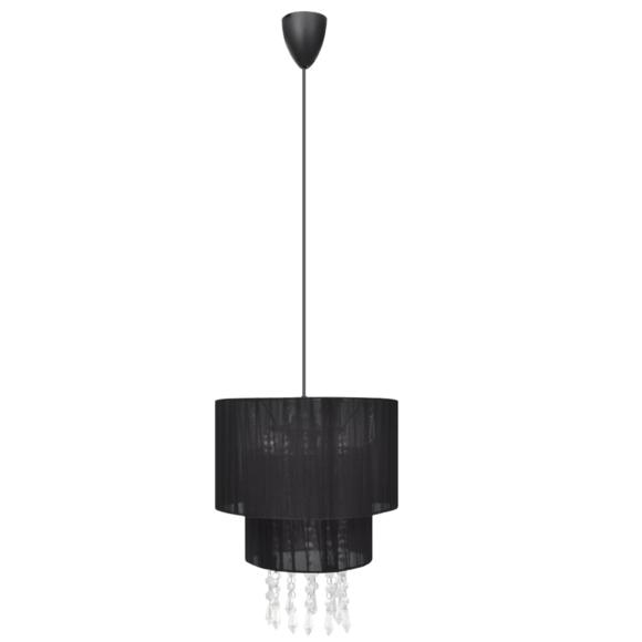 Vidaxl - Lustre plafonnier contemporain suspension cristal noir