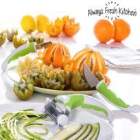 Always Fresh Kitchen - Outils pour Garnitures Slice Art Set 3 pièces