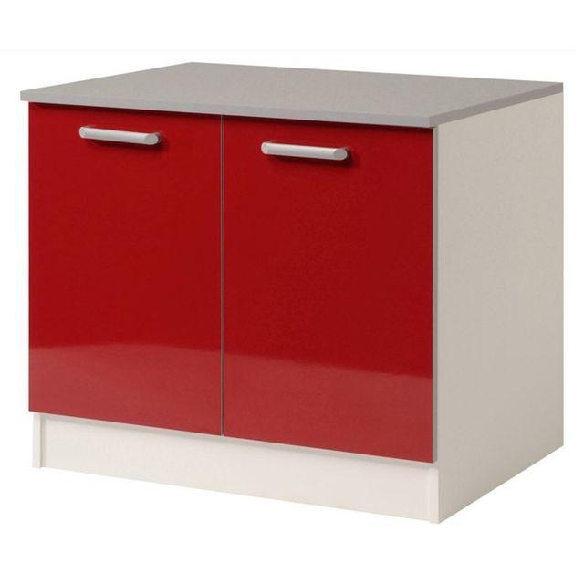 paris prix meuble bas 2 portes 120 cm shiny rouge