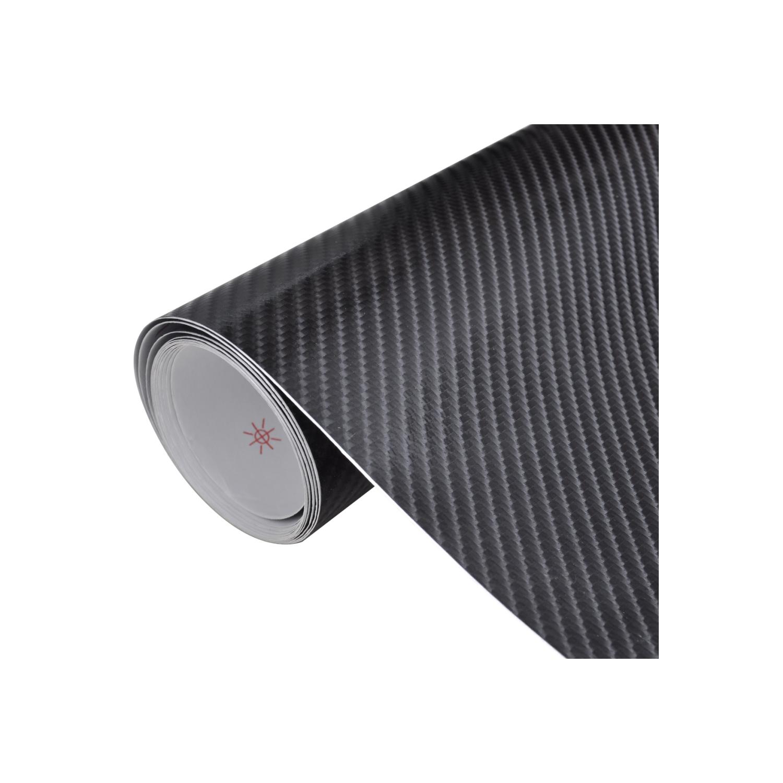 Rocambolesk - Superbe Film Fibre de Carbone 4D Vinyl Noir 152 x 200 cm pour Voiture Neuf