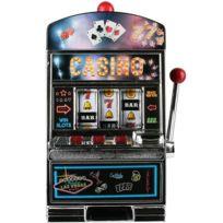 Touslescadeaux - Grande Machine à Sous Jackpot Casino avec sons et lumière - fait aussi Tirelire
