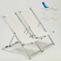 Beach And Garden Design - Transats chaises de plage piscine alumin