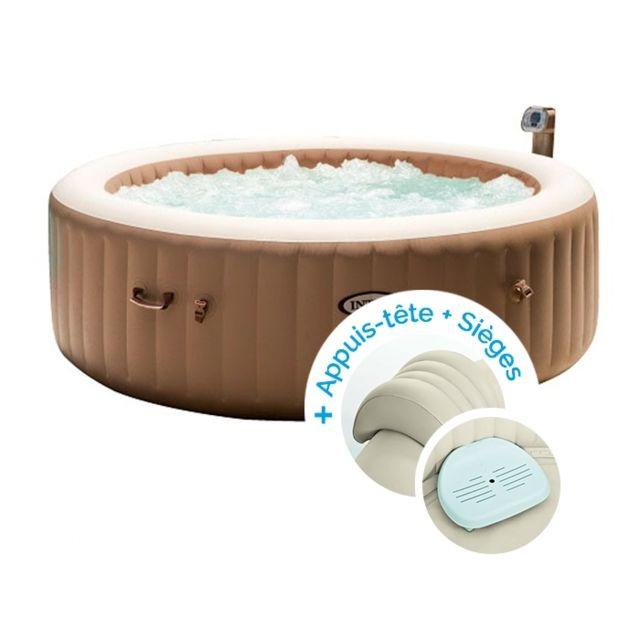 intex spa gonflable purespa bulles 6 personnes 2. Black Bedroom Furniture Sets. Home Design Ideas