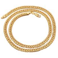 73c4333f62097 Au Marche Du Luxe - Chaine chaîne plaqué or 18 carats maille anglaise 55 cm  5