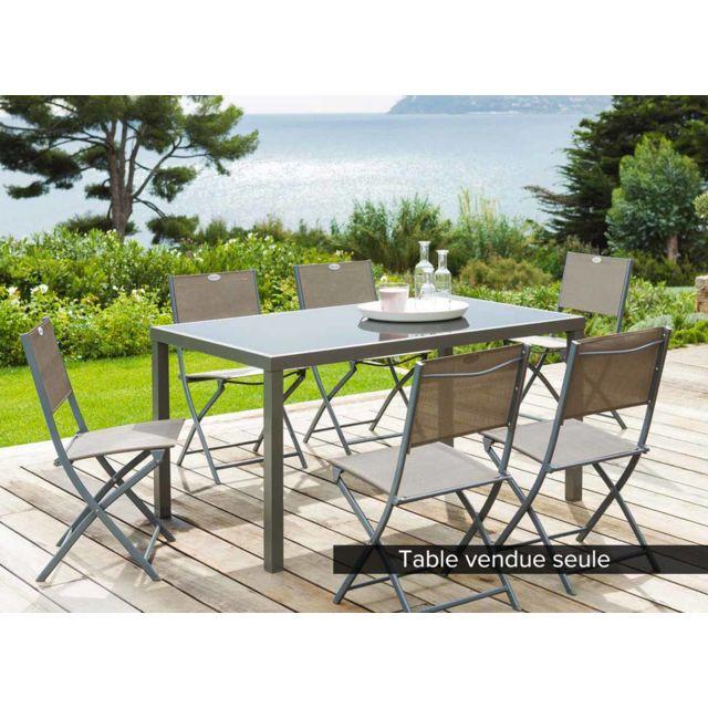 hesperide table de jardin hesp ride piazza 6 places taupe pas cher achat vente tables de. Black Bedroom Furniture Sets. Home Design Ideas