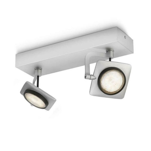 Philips Spots orientables doubles Millennium Led L26 cm - Aluminium