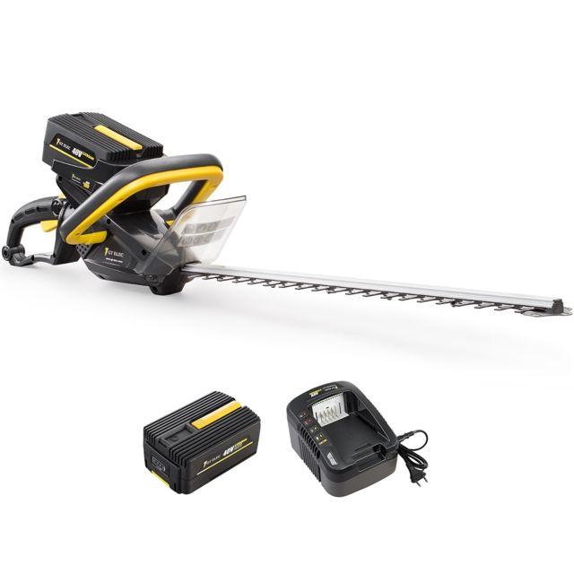 GT ELEC Taille-haies sans fil à batterie, 40 V, + batterie 2 Ah + chargeur