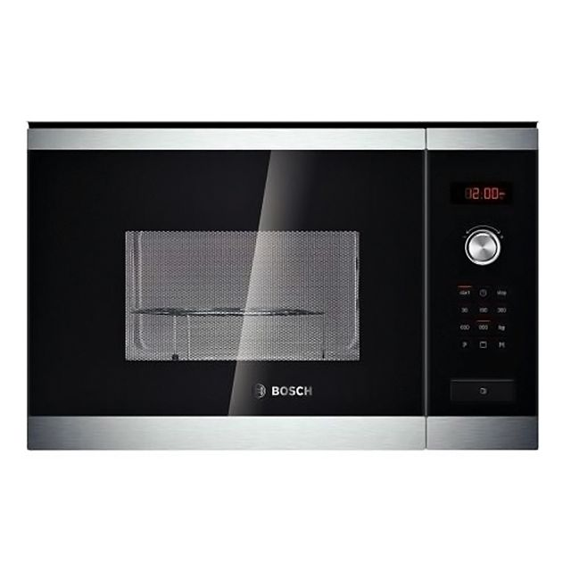 bosch micro ondes encastrable 25l 900w inox hmt84g654. Black Bedroom Furniture Sets. Home Design Ideas