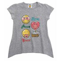 Smiley - Fille Tee-shirt