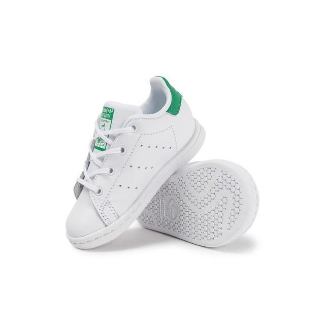 Adidas Stan Smith Bébé Blanche Et Verte pas cher Achat