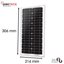 Uniteck - Panneau solaire unisun 5w - 12v monocristallin