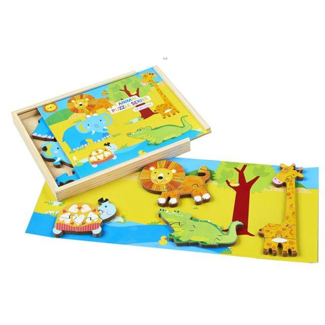 Imagin Puzzle éveil en bois La Savane - 18 pièces