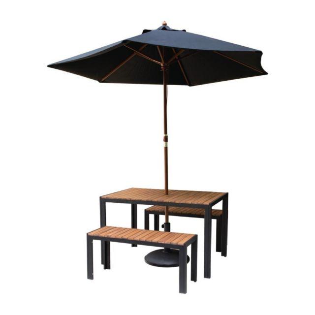 Materiel Chr Pro Table Rectangulaire - Acier & Acacia - 1200 mm - Bolero