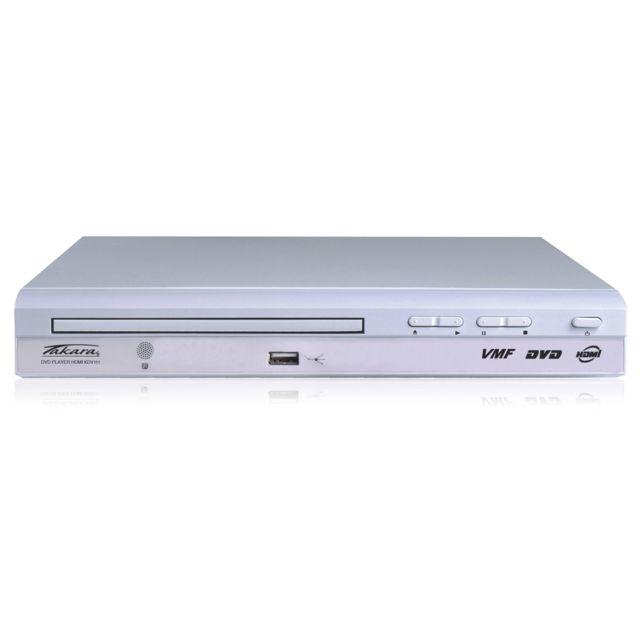 TAKARA Lecteur DVD - KDV111W - Lecteur DVD compatible : DVD/SVCD/VCD/CD/MP3/MP4/Xdiv/CDR/CDRW/DVDRW/DVD+RW/HDCD/J/PEG