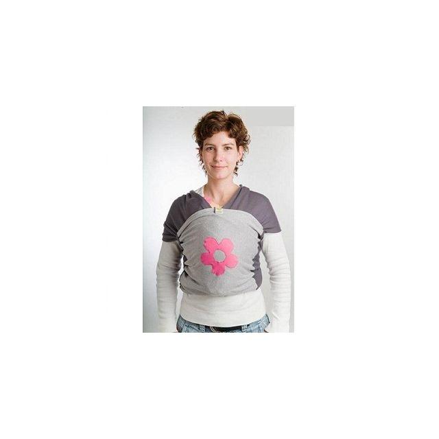eba545697153 Bykay - Echarpe de portage gris anthracite gris fleur fuchsia - pas cher  Achat   Vente Porte-bébés - RueDuCommerce