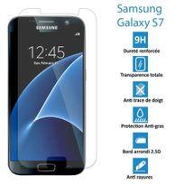 Cabling - Film Protecteur d'écran en Verre Trempe pour Samsung Galaxy S7 Ultra Transparent Ultra Résistant Inrayable Invisible pour samsung galaxi s7 4g, samsung galaxy S7 dual double sim 4G
