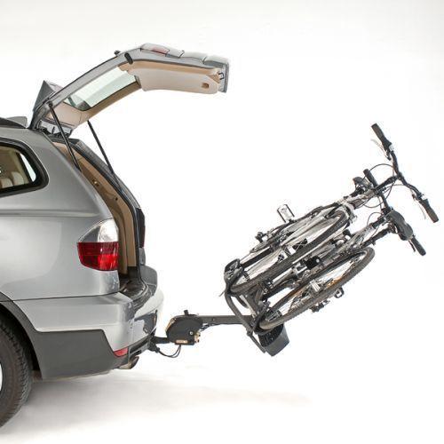 Mottez - Porte-vélo plateforme, basculable sur attelage 100% monté, spécial vélos électriques 2, A023P2ELEC, fixation sur boule d'attelage