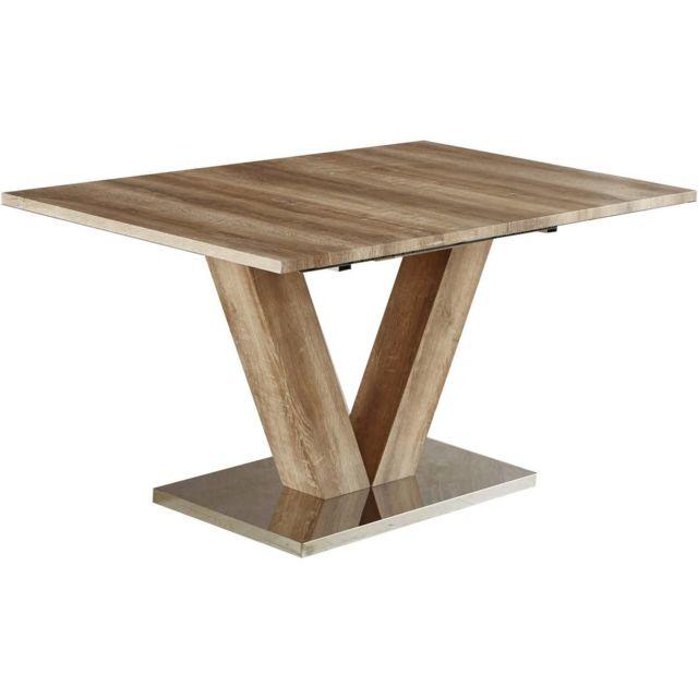 Lora x 75 Chêne 180200 x cm Table repas 90 extensible Nn0wv8m