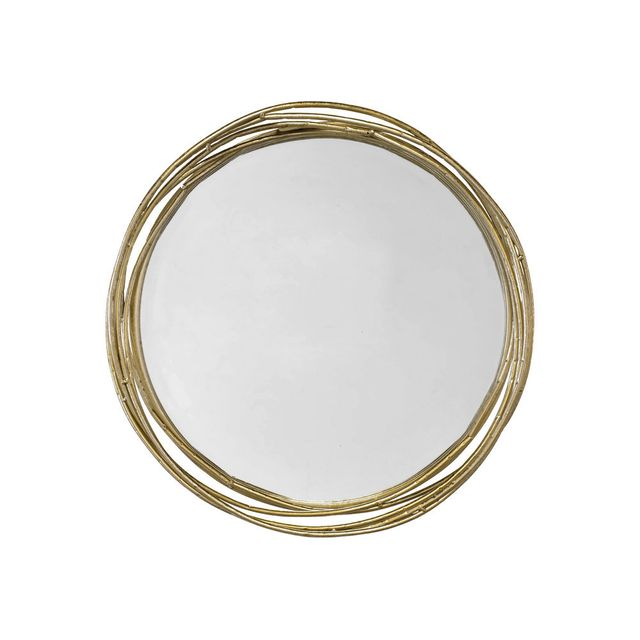 Miroir rond m tal for Miroir emde deco