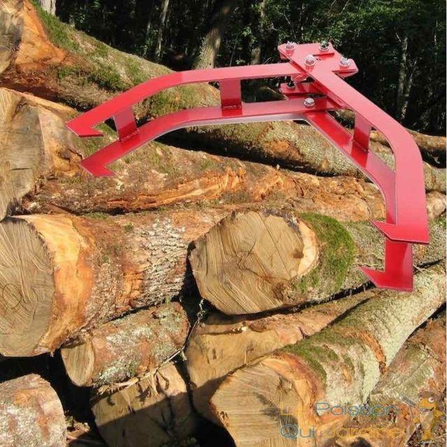 Le Poisson Qui Jardine Griffe à bois ou pince pour soulever tronc et grumes facilement