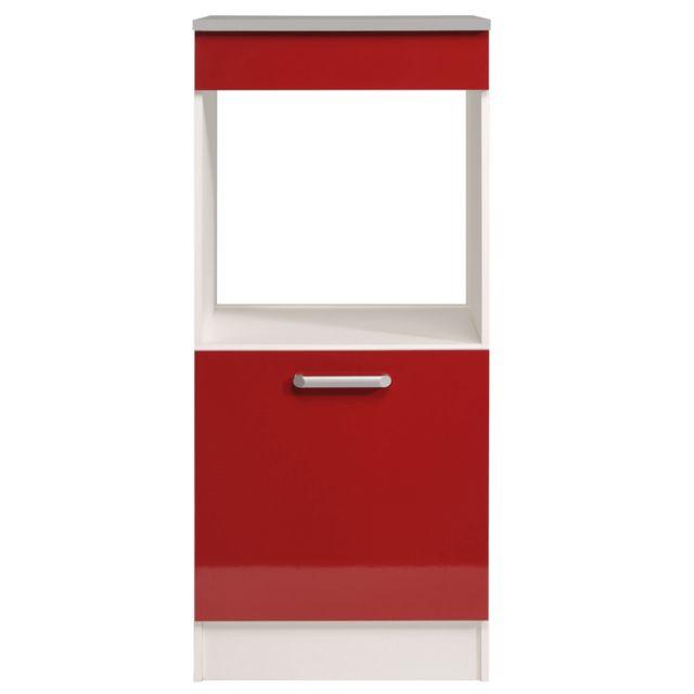 Last Meubles - Demi armoire four Ultra rouge brillant