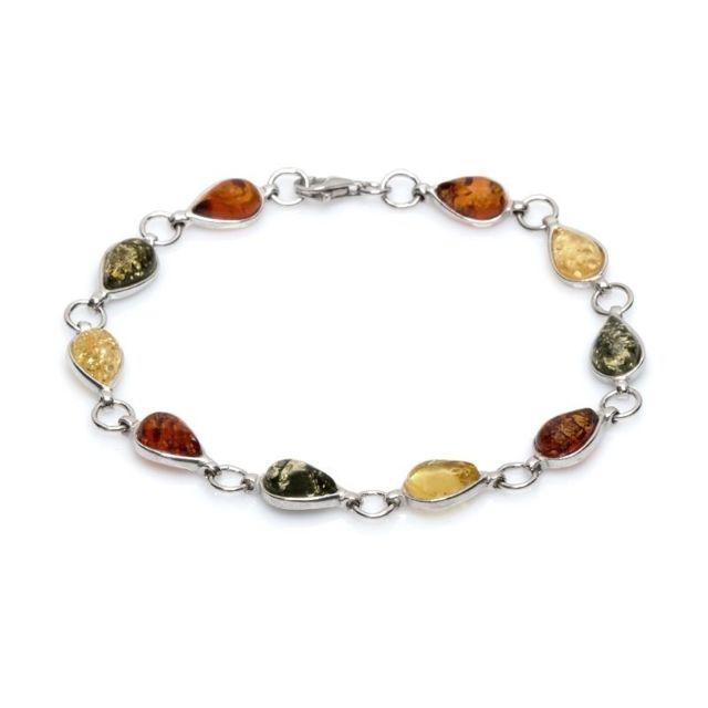 La Maison De L'AMBRE Bracelet argent ambre