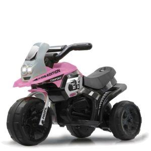 jamara petite moto lectrique b b enfant 3 roues fille rose 6 volts pas cher achat. Black Bedroom Furniture Sets. Home Design Ideas