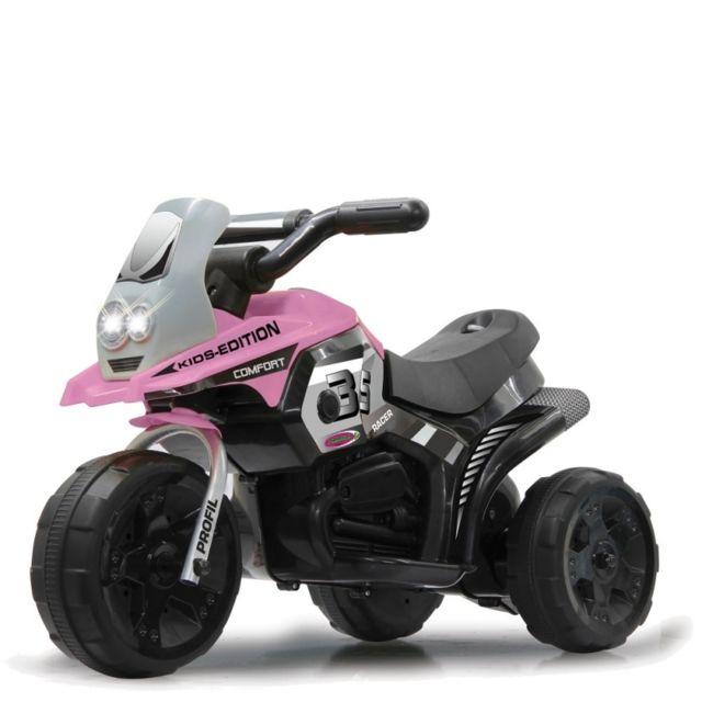 jamara petite moto lectrique b b enfant 3 roues fille rose 6 volts pas cher achat
