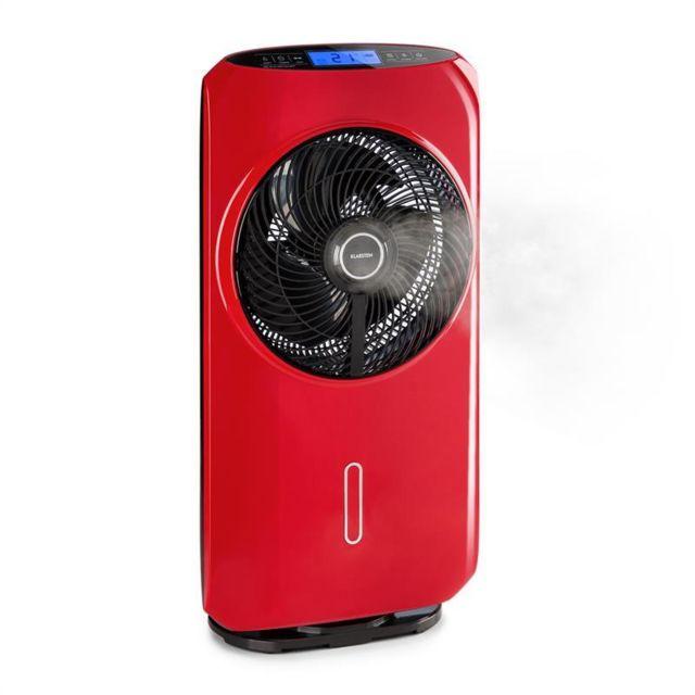 klarstein cooltropic ventilateur sur pied humidificateur air 48w 2820m rouge pas cher. Black Bedroom Furniture Sets. Home Design Ideas
