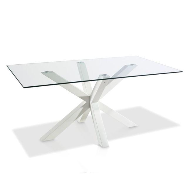 Tousmesmeubles Table de repas - Astrid - L 180 x l 100 x H 75