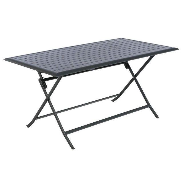 Hesperide table de jardin rectangulaire azua 6 places graphite 1 80cm x 71cm x 150cm pas - Table de jardin hesperide azua ...