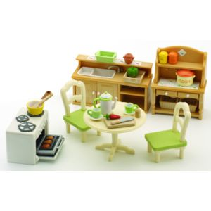 sylvanian families set de cuisine 2951 pas cher achat vente mini poup es rueducommerce. Black Bedroom Furniture Sets. Home Design Ideas