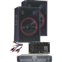 MONACOR - kit sono ampli + table de mixage + enceintes + cablage - dun59019