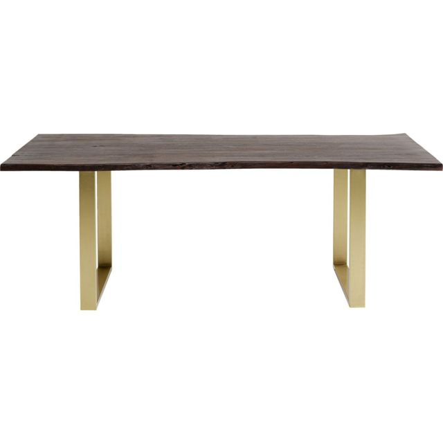 Karedesign Table Harmony noyer laiton 180x90cm Kare Design
