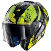 Shark - casque intégral modulable en jet Evo-one Falhout Kyg moto scooter noir vert jaune mat M