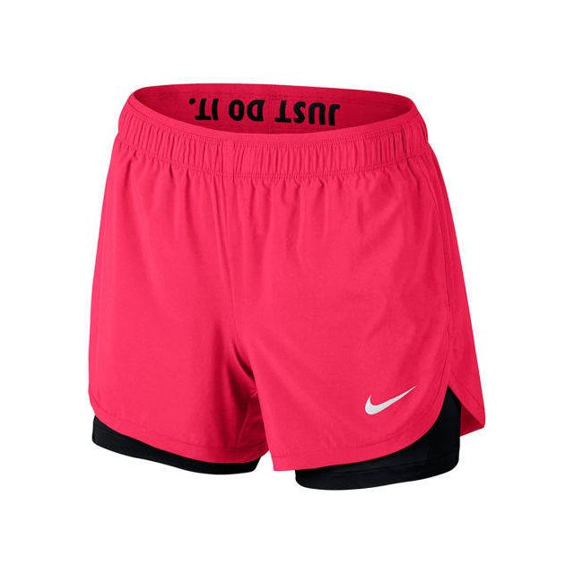 Nike - Short Flex 2in1 rose femme - pas cher Achat   Vente Pantalons ... cccf531cd69
